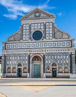Italy, florence: santa maria novella, one of the most important church of the city