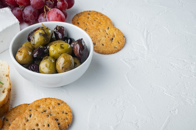 Italy fresh olives, on white background  with copy space for text