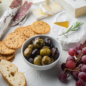 Italy fresh olives, on white