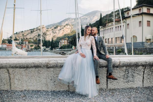 イタリア、ガルダ湖