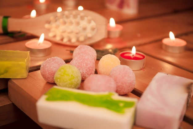 Items for relaxation and relaxation in the sauna