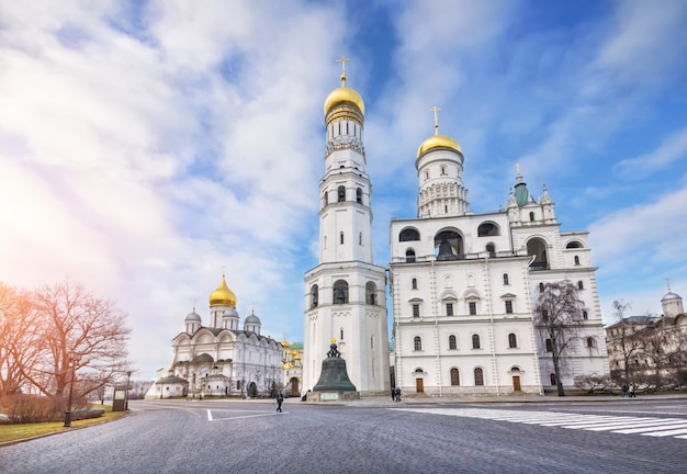 Ivan the great bell tower and assumption belfry  in the moscow kremlin