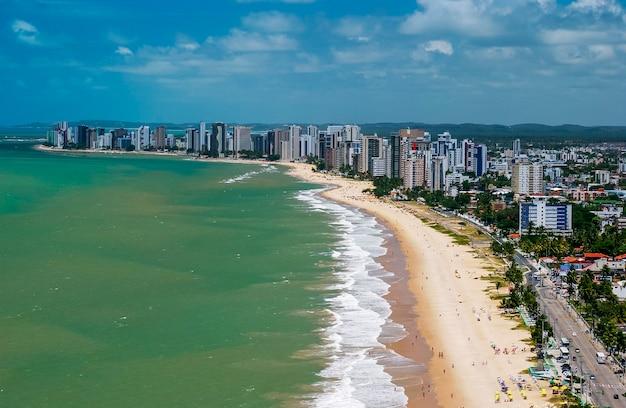 Jaboatao dos guararapes, near recife, pernambuco, brazil. aerial view.