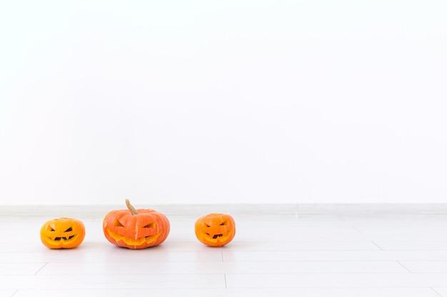 Jack o lantern carved pumpkins