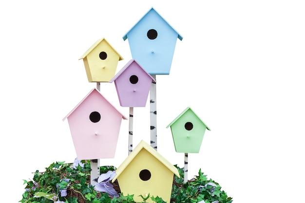 Домик джека скворца для птиц, деревянные скворечники разных цветов