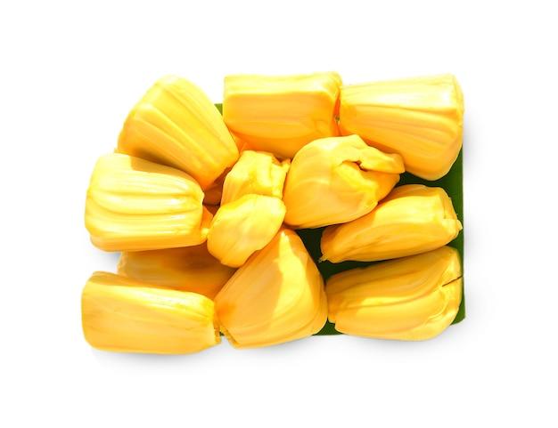Jackfruit 흰색 배경에 고립입니다.