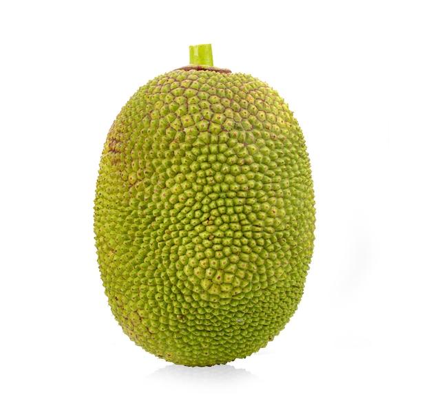 Jackfruit isolated on white surface