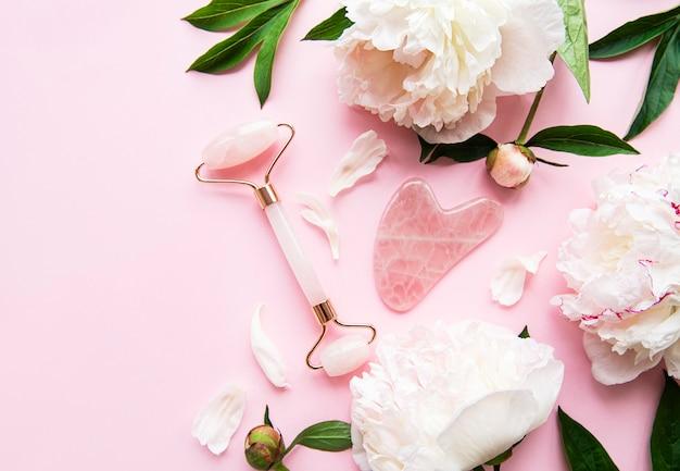 美容フェイシャルマッサージ療法のための翡翠のフェイスローラー
