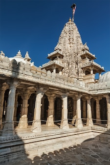 Jain temple in ranakpur. rajasthan, india