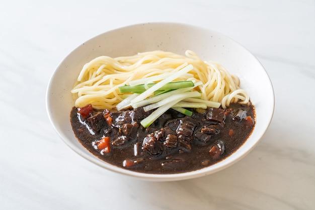 Jajangmyeon or jajangmyeon is korean noodle with black sauce