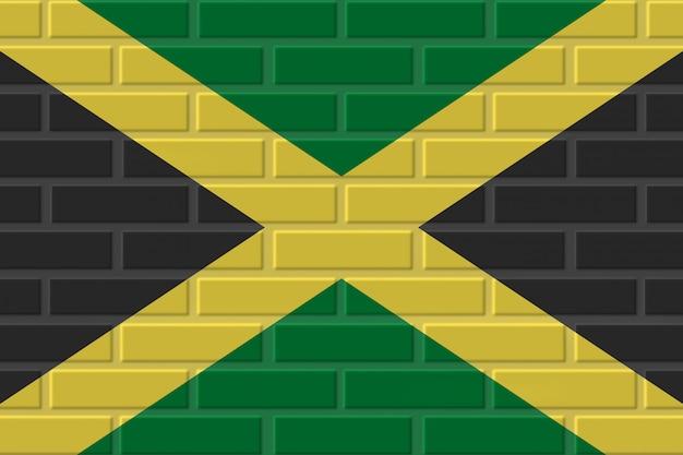 ジャマイカのレンガの旗のイラスト