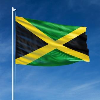 Jamaica flag flying