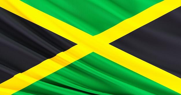 記念日、ドミニカジャマイカ旗、独立記念日のジャマイカの旗。