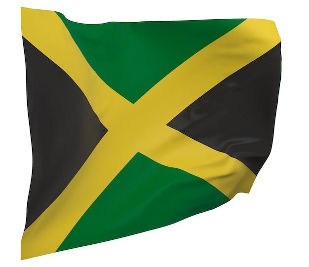 ジャマイカの旗が分離されました。手を振るバナー。ジャマイカの国旗