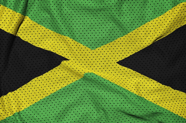 Jamaica flag printed on a polyester nylon mesh