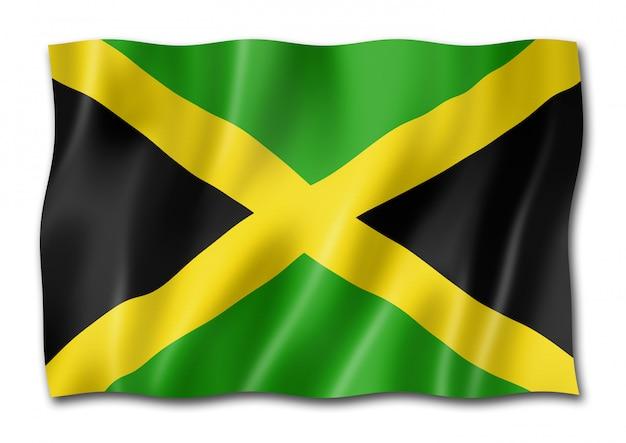 白で隔離されるジャマイカの旗