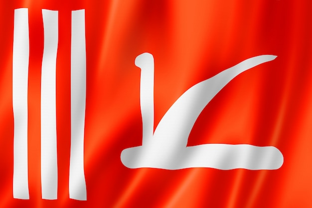 ジャンムーカシミール州の民族旗、アジア