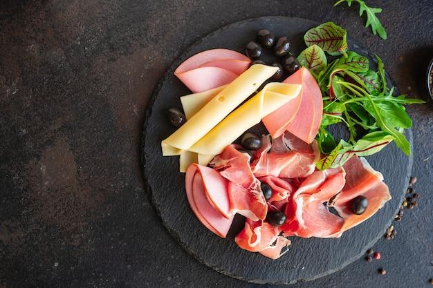 Хамон иберико парма мясная тарелка закуска здоровое питание