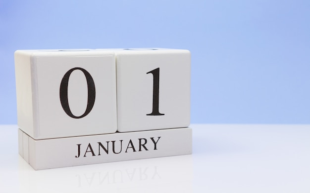 January 01st. day 01 of month