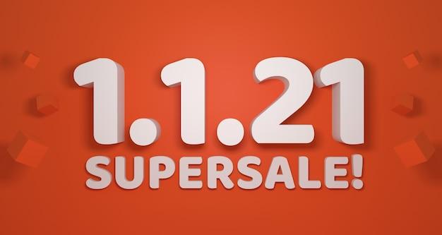 January 1st big sale promotion banner