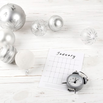 January planning on festive table