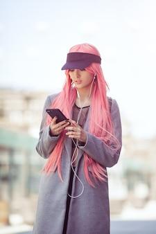 Japan anime cosplay fashion asian girl outdoors