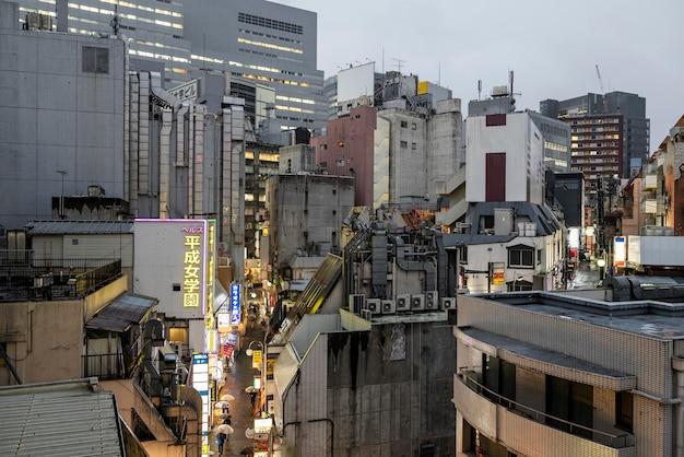 Япония здания городской пейзаж