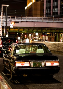 Japan city with automobile