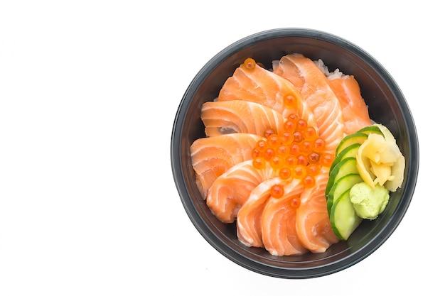 Japan don white bowl wasabi