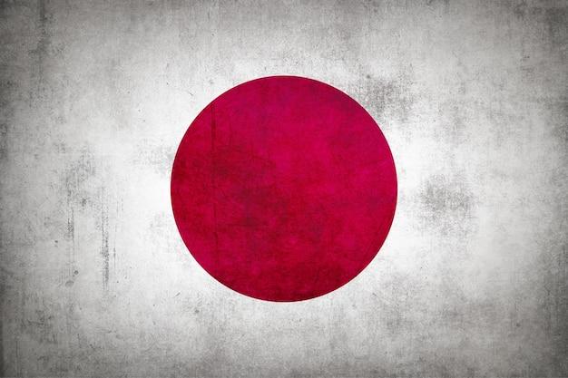 グランジテクスチャの日本国旗。