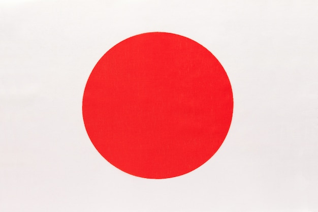 Japan national fabric flag