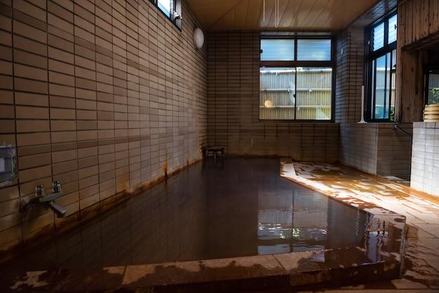 Japan onsen in traditional ryokan hotel