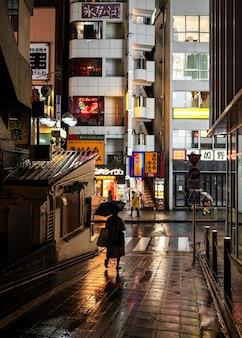 Япония подписывает городской пейзаж