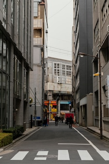 日本の街路と建物の昼間