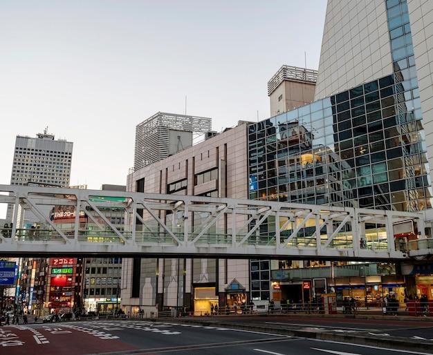 일본 거리와 건물 도시 풍경