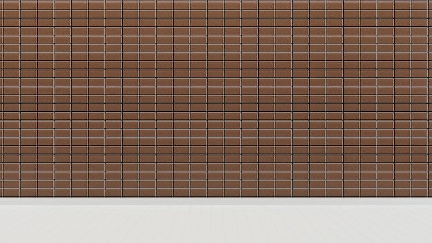 Japan style brown tile wall and floor empty room background
