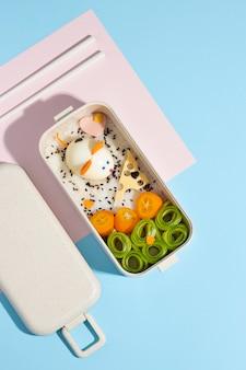 日本のお弁当箱の配置