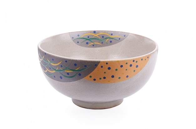 Japanese bowl on a white