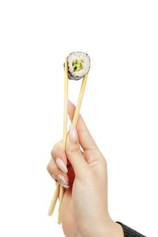 日本料理、分離された巻き寿司