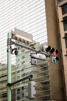 Japanese culture with traffic light