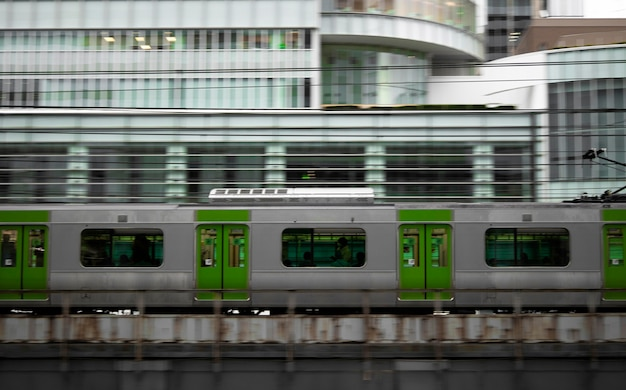 Japanese culture with train