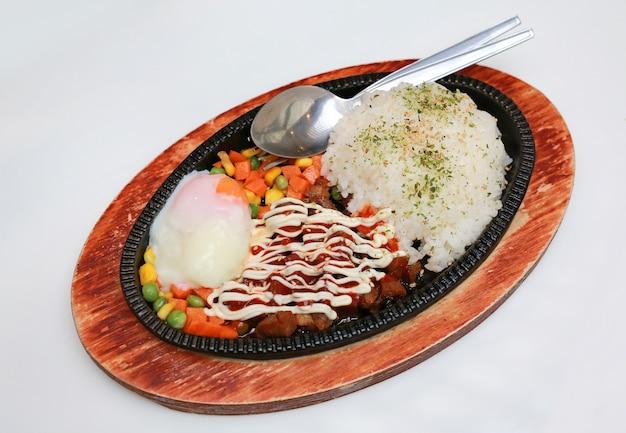 Japanese deep fried pork with rice