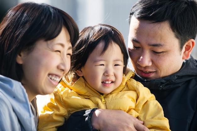 東京の日本人家族