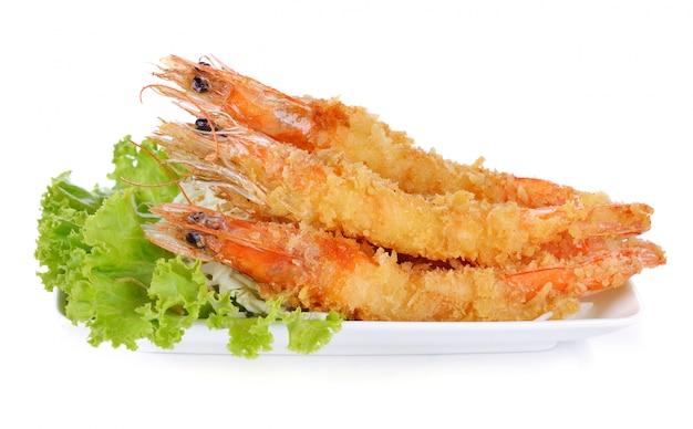 Japanese food - fried tempura shrimps