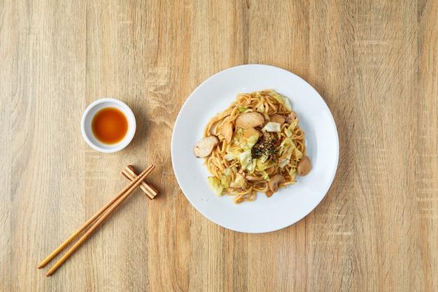 일본 음식 국수 야키소바