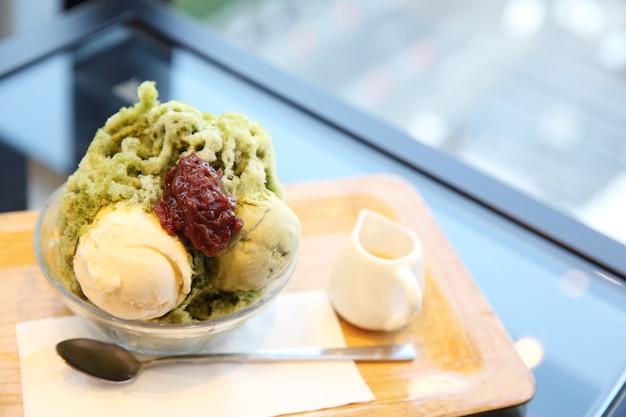 Japanese green tea shave ice