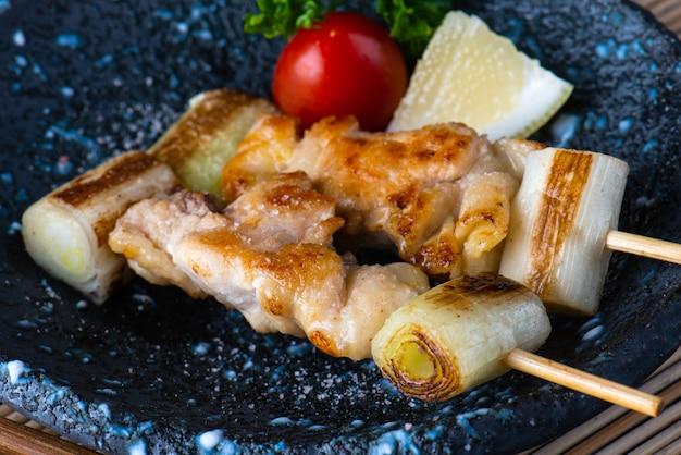 Japanese grilled chicken with salt.