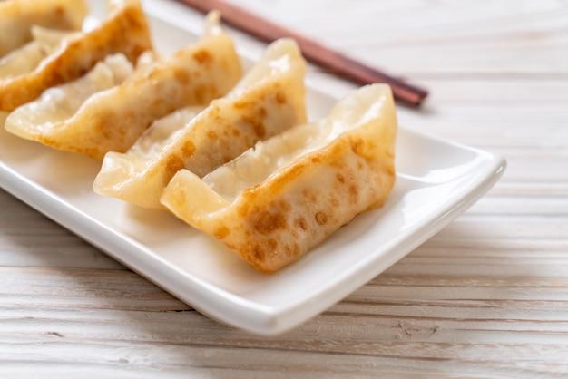Japanese gyoza or dumplings snack