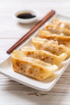 Japanese gyoza or dumplings snack