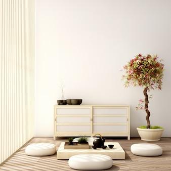 Японский дизайн интерьера гостиной